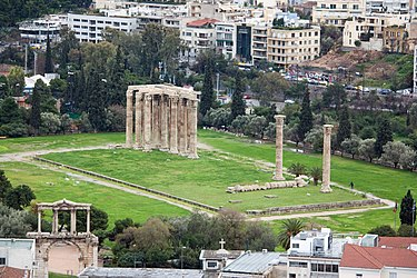 Temple of Zeus from Athens Acropolis 2010 3.jpg