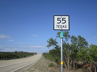 Texas State Highway 55 - State Highway 55 in the Texas Hill Country