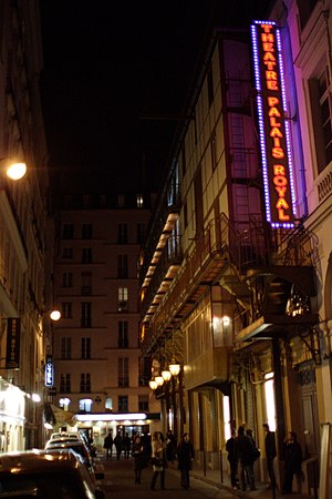 Théâtre du Palais-Royal - Rue de Montpensier facade, looking north