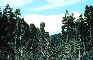 "Phantom Canyon (Pikes Peak Area) - ""The Chief"" rock formation in Phantom Canyon"