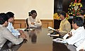 The Andhra Pradesh Chief Minister-designate Shri N. Chandrababu Naidu meeting the Minister of State (Independent Charge) for Petroleum and Natural Gas, Shri Dharmendra Pradhan, in New Delhi on May 30, 2014.jpg