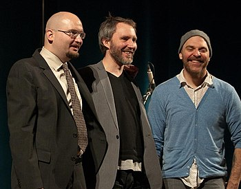 English: The Bad Plus, 22 Jan. 2010 Ethan Iver...