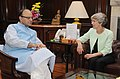 The Chair of the UK India Business Council (UKIBC), Ms. Patricia Hewitt meeting the Union Minister for Finance and Corporate Affairs, Shri Arun Jaitley, in New Delhi on September 26, 2016 (1).jpg