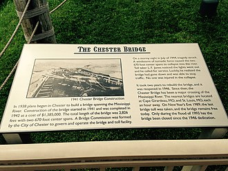 Chester Bridge - Image: The Chester Bridge plaque, Segar Park, Chester Bridge, Chester, Illinois