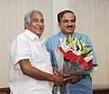The Chief Minister of Kerala, Shri Oommen Chandy calls on the Union Minister for Chemicals and Fertilizers, Shri Ananthkumar, in New Delhi on July 03, 2014.jpg