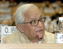 The Chief Minister of West Bengal Shri Buddhadeb Bhattacharjee, addressing at the 52nd National Development Council Meeting at Vigyan Bhawan, New Delhi on December 9, 2006.jpg