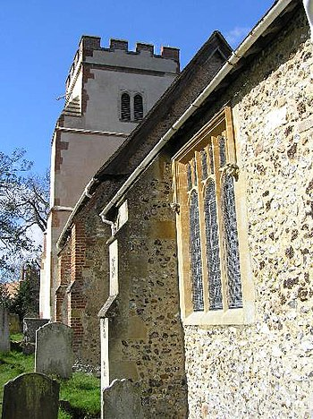 English: The Church at Ockham William of Occam...