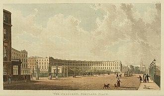 Park Crescent, London - The Crescent, Portland Place, Rudolph Ackermann, 1822.