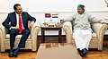 The Defence Minister of Maldives, Col. (Retd.) Mohd. Nazim calling on the Defence Minister, Shri A. K. Antony, in New Delhi on March 06, 2014.jpg