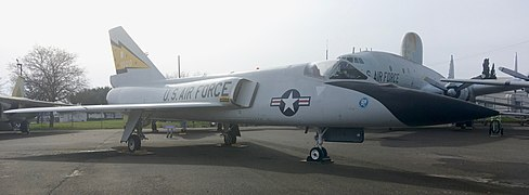 "The F-106 ""Delta Dart"" on display at the Aerospace Museum of California.jpg"