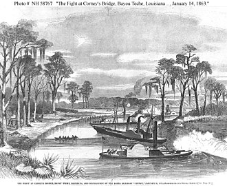 Bayou Teche - The 14 January gunboat engagement