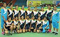 The Gold Medal winning Women team of India in the handball event, at the 12th South Asian Games-2016, in Guwahati on February 15, 2016.jpg