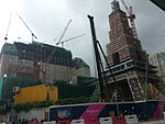 The Parisian under construction on August 28th 2015.jpg