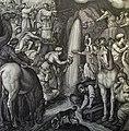 The Phillip Medhurst Picture Torah 407. Moses striking the rock. Exodus cap 17 v 6. Massaccio.jpg