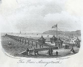 Aberystwyth - The first Pier at Aberystwyth c.1865