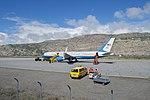 The Plane that Carried Secretary Kerry Sits on the Runway at Kangerlussuaq International Airport in Kangerlussuaq, Greenland (27654843032).jpg