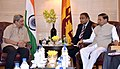 The President of the Democratic Socialist Republic of Sri Lanka, Mr. Maithripala Sirisena meeting the Union Minister for Defence, Shri Manohar Parrikar, in New Delhi on February 16, 2015.jpg