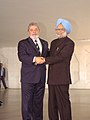 The Prime Minister, Dr. Manmohan Singh meeting the President of Brazil, Mr. Lula da Silva on the sidelines of BRIC and IBSA Summits, in Brasilia, Brazil on April 15, 2010.jpg