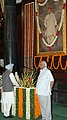 The Prime Minister, Dr. Manmohan Singh paying tributes to Lokmanya Bal Gangadhar Tilak on the occasion of his 151st birth anniversary, in New Delhi on July 23, 2007.jpg
