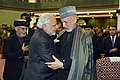 The Prime Minister, Shri Narendra Modi and the former President of Afghanistan, Mr. Hamid Karzai at the inauguration ceremony of the Afghanistan Parliament, at Kabul, in Afghanistan on December 25, 2015.jpg
