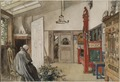 The Studio. From A Home (26 watercolours) (Carl Larsson) - Nationalmuseum - 24213.tif