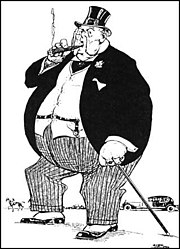 Fat Cat cartoon of a Subsidised Miner