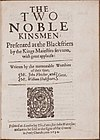 The Two Noble Kinsmen by John Fletcher William Shakespeare 1634