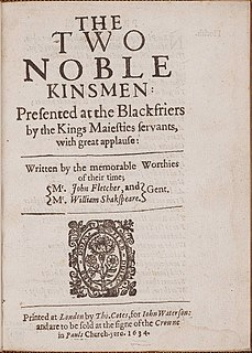 <i>The Two Noble Kinsmen</i> play partly written by William Shakespeare