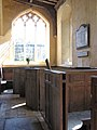 The church of St Peter in Reymerston - C15 box pews (geograph 1793739).jpg