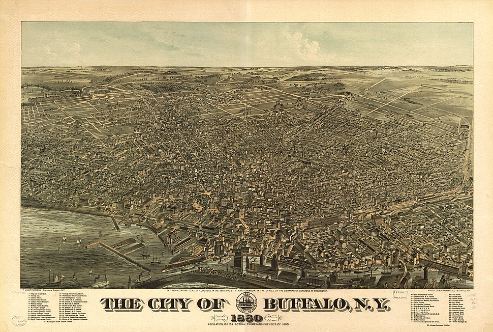The city of Buffalo NY 1880