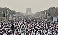 The participants in the mass performance of Common Yoga Protocol, on the occasion of the 4th International Day of Yoga -2018, at Rajpath, in New Delhi on June 21, 2018.JPG