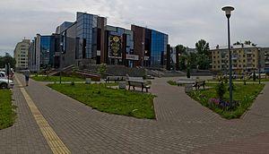 Moskovskaya street in saratov