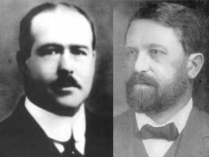 Boveri–Sutton chromosome theory - Walter Sutton (left) and Theodor Boveri (right) independently developed the chromosome theory of inheritance in 1902.