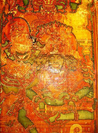 Kerala mural painting - Thodeekkalam (Thodikkalam) Shiva Temple, Kannur district
