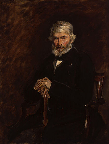 Carlyle painted by John Everett Millais. Froude wrote of this painting: