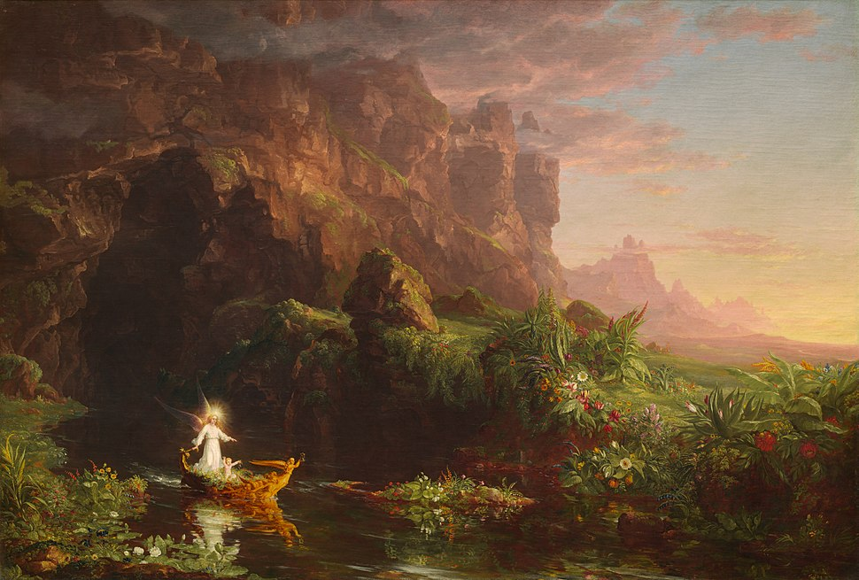 Thomas Cole - The Voyage of Life Childhood, 1842 (National Gallery of Art)