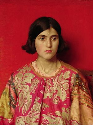 1930 in art - Image: Thomas Cooper Gotch The Exile 1930