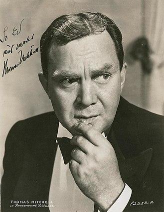 Thomas Mitchell (actor) - Image: Thomas Mitchell (actor)