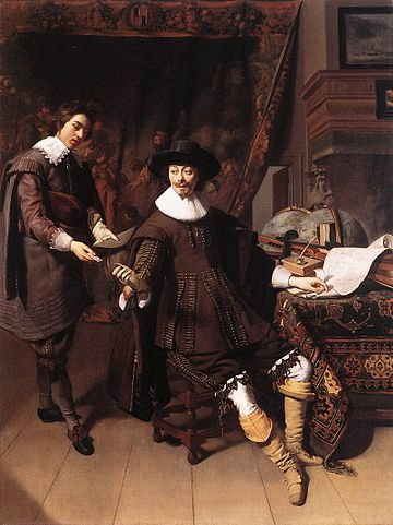 Thomas de Keyser - Constantijn Huygens and his Clerk - WGA12173