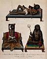 Three Hindu ascetics, or holy men Wellcome V0041317.jpg
