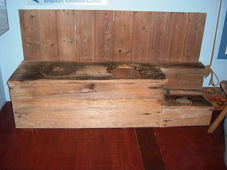 Somerset Rural Life Museum - Image: Three seater toilet
