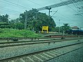 Thrippunithura railway station platform, Kerala, India.jpg