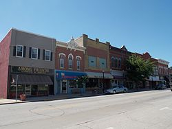 Skyline of Tipton, Iowa