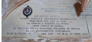 Giuseppe Ferlini - Image: Tomb Giuseppe Ferlini Bologna