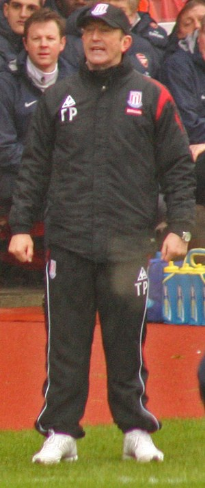 Tony Pulis - Pulis in typical matchday dress.