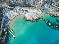 Top-down Konos Beach Protaras Cyprus (29852051398).jpg