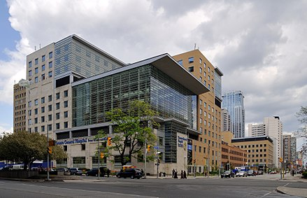 Toronto General Hospital is a major teaching hospital in downtown Toronto. Toronto - ON - Toronto General Hospital.jpg