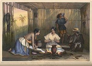 Carl Nebel - Las Tortilleras is one of the 50 plates in Nebel's Voyage pittoresque et archéologique dans la partie la plus intéressante du Mexique