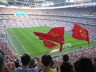 2017–18 FA Cup - The first of the 2017-18 FA Cup semi-finals, Manchester United vs Tottenham, at Wembley Stadium.