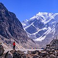 Tourist looking over Tsho Rolpa Lake.jpg